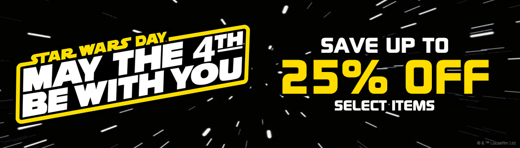 may the fourth sale at Regal Robot