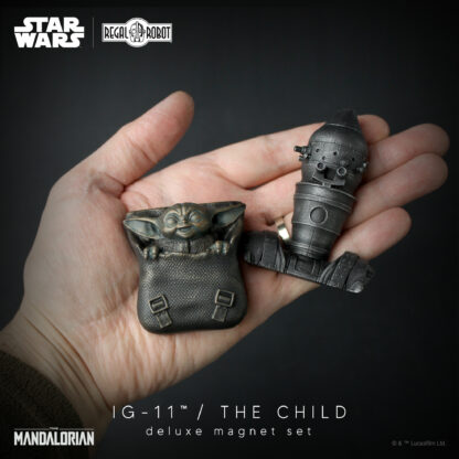 baby yoda and Ig-11 assassin droid (not IG-88) from the Mandalorian