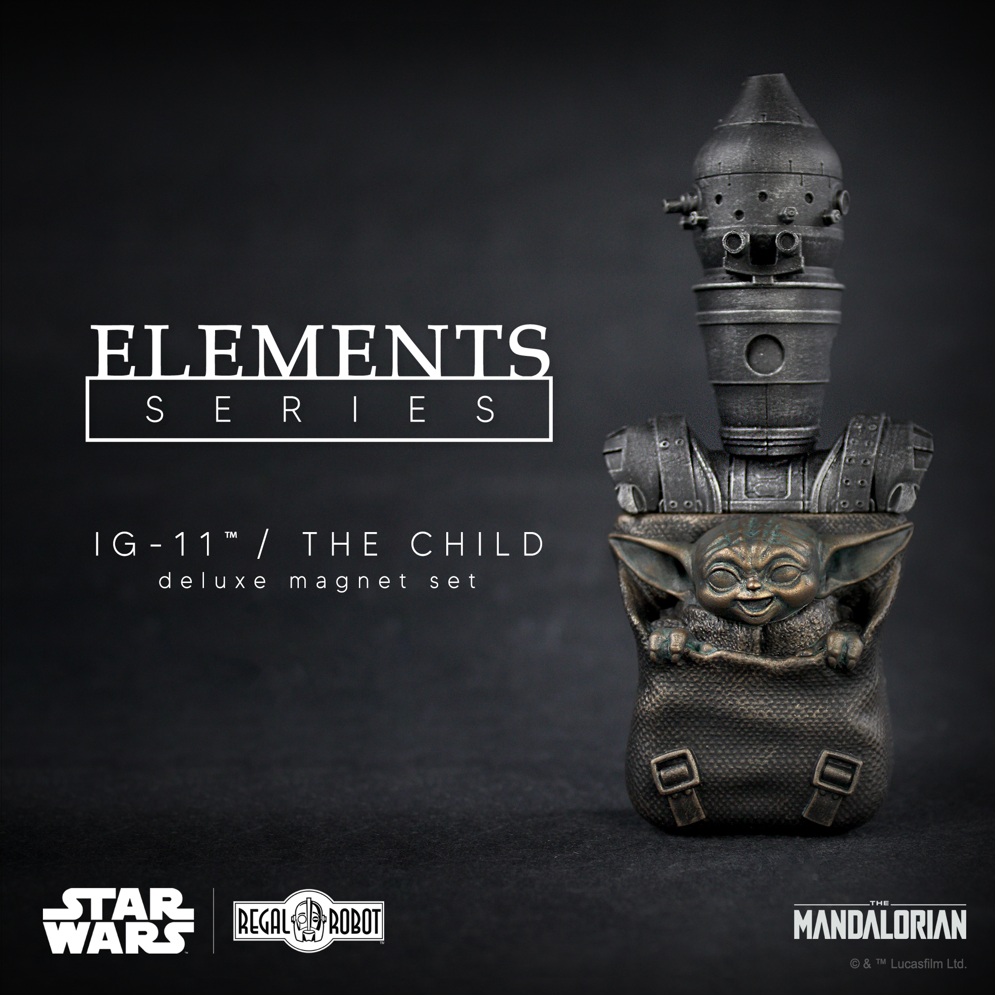 The Mandalorian droid IG-11 & Baby Yoda aka the Child magnets from Regal Robot