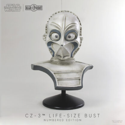 Mos Eisley droid CZ-3 as a replica lifesize bust