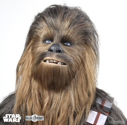Chewbacca replica mask as a life-sized Star Wars bust