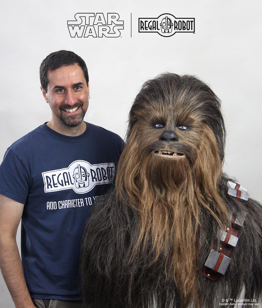 Tom Spina lifesize mask Chewbacca the Wookiee