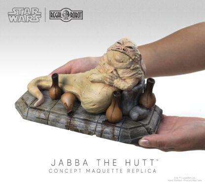 jabba the hutt figure or statue
