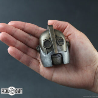 retro robot sculpture magnet