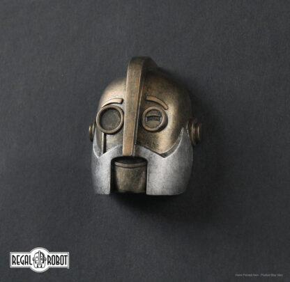 retro robot sculpture magnet