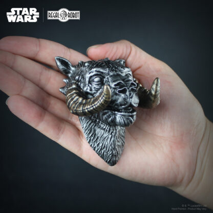 Silver tauntaun sculpture as a small scale figure head.