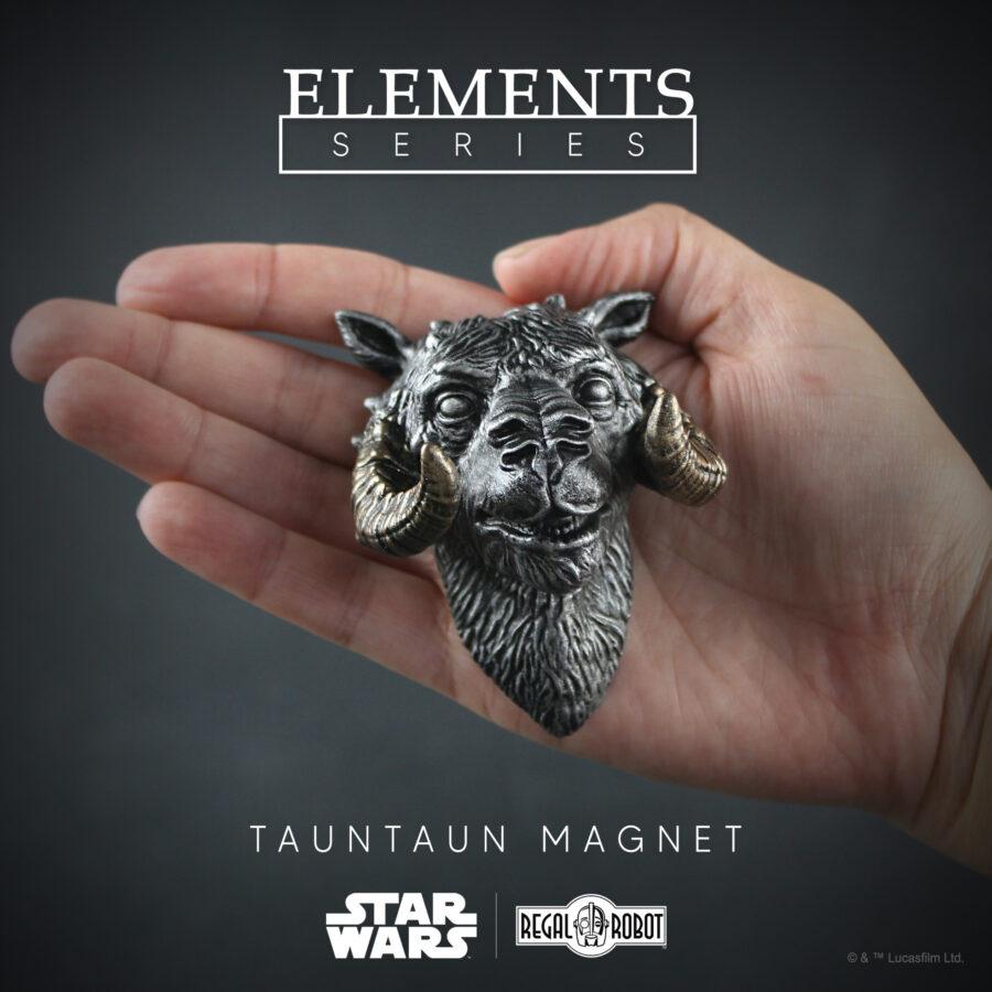 tauntaun bust, scaled tauntaun mini sculpture for magnet