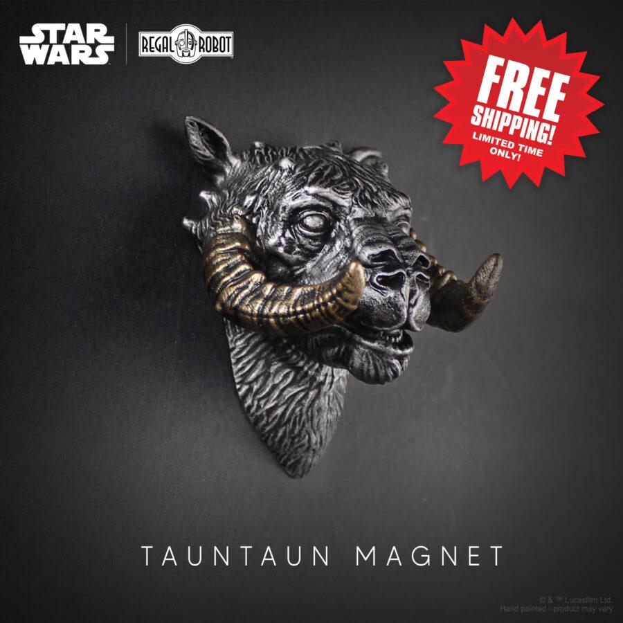 Silver tauntaun sculpture as a small scale figure head.