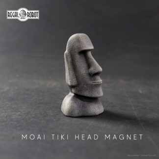 easter island head statue as a tiki magnet