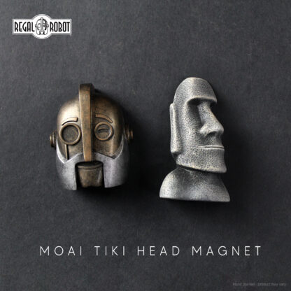 Robot and tiki head magnets from Regal Robot