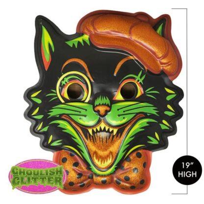 thanksgiving black cat scary fun halloween home office art
