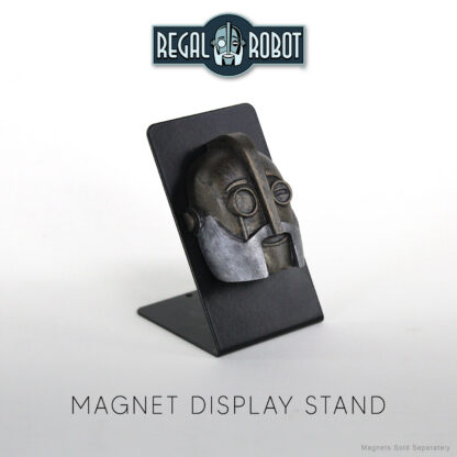 retro robot magnet and metal display stand