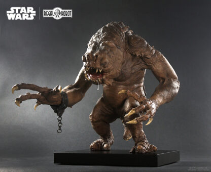 figure and replica of The Rancor from Jabba the Hutt's Palace on Tatooine