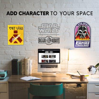 Vader in Flames and Wampa Warning Sign wall decor