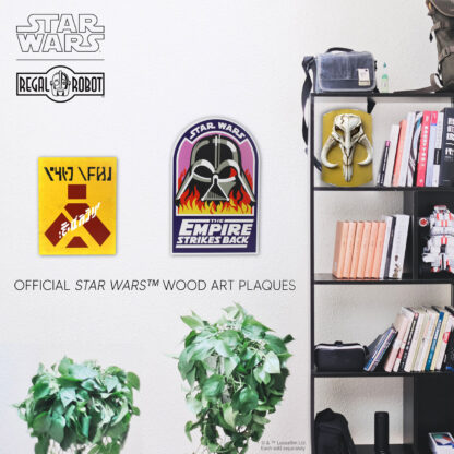 Vader in Flames crew patch as wall decor and Wampa Warning Sign wall decor