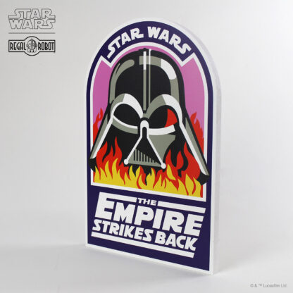 Wood plaque pub sign with Darth Vader Flames crew patch art