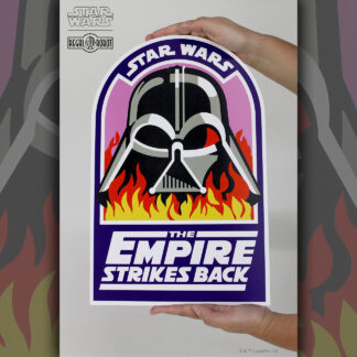 Vader in Flames crew patch as wall decor