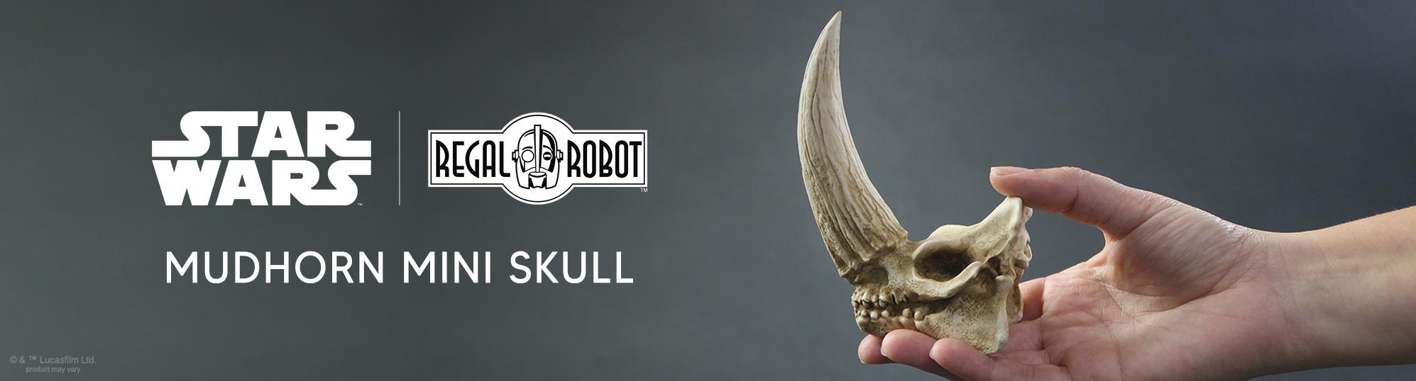 the Mandalorian mudhorn skull sculpture