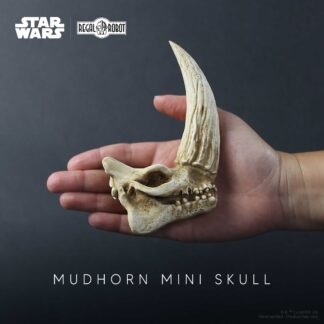 the Mandalorian mudhorn skull sculpture