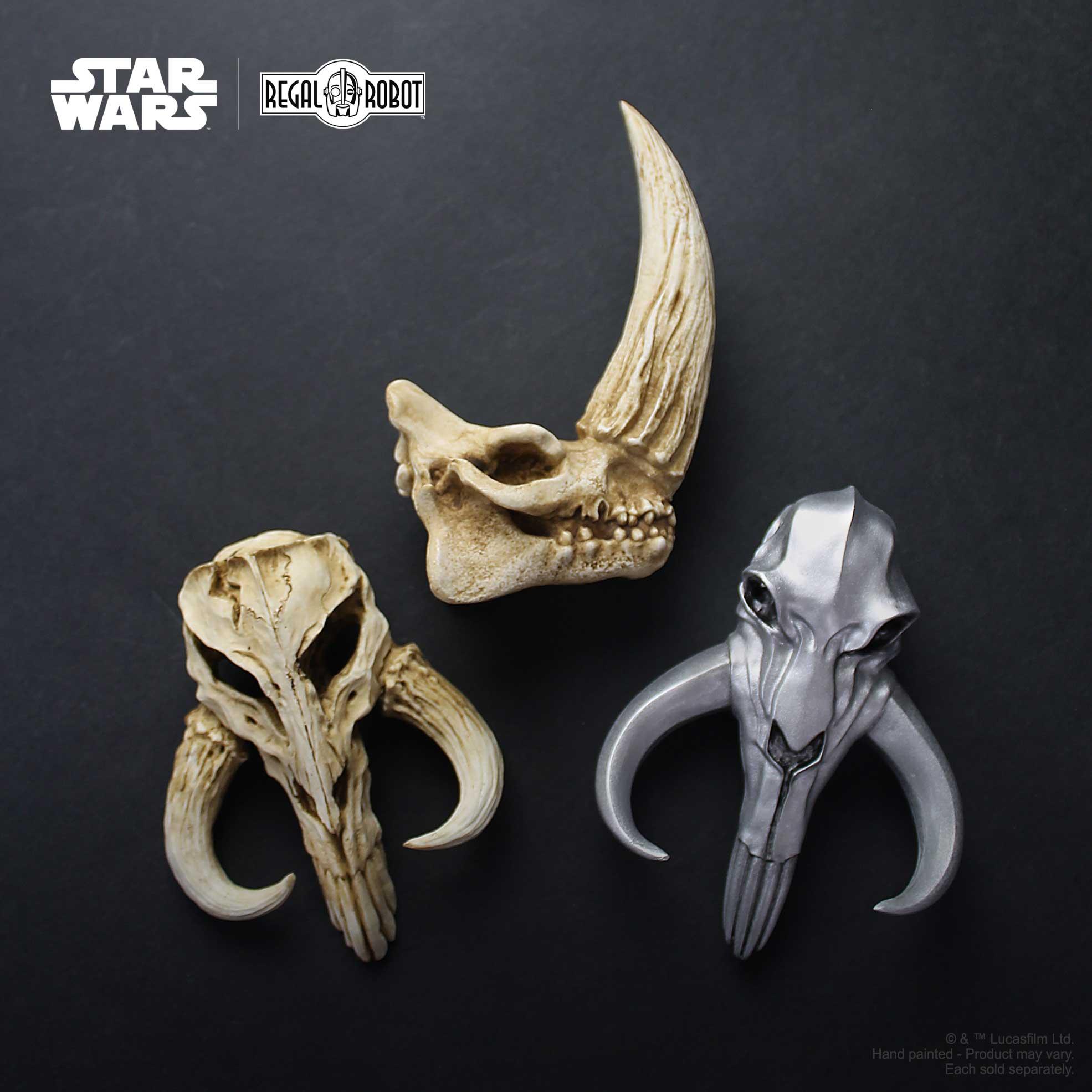 Regal Robot Mandalorian skulls and decor