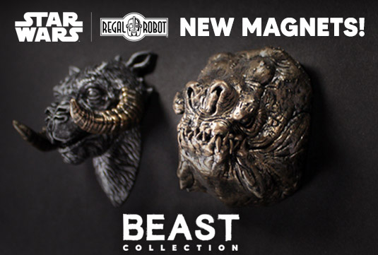 beast collection magnets from Regal Robot
