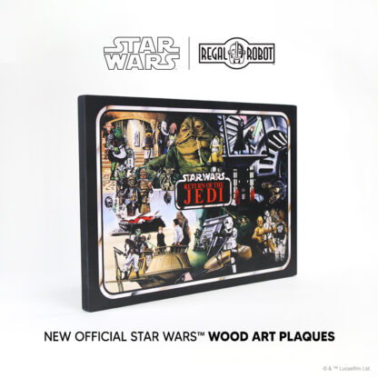 Return of the Jedi Mini-Action Figure Collector Case art as a wall decor plaque