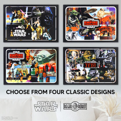 Star Wars Mini-Action Figure Collector Case art as a wall decor plaque