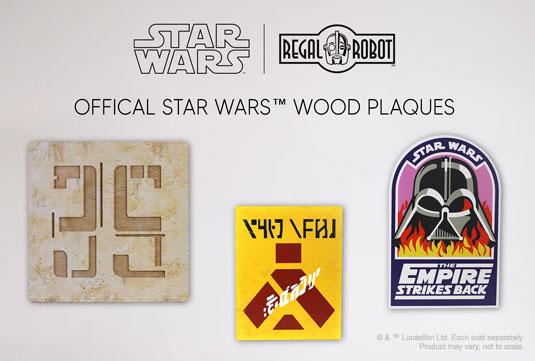 Darth Vader flames patch, Wampa warning sign and docking bay 35 symbol