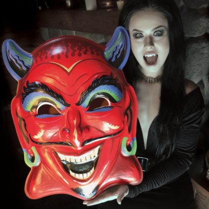 devil head Ben Cooper style mask as wall decor