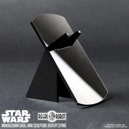 acrylic display stand for Mandalorian skull mini sculpture