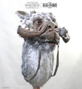 life-sized bust or statue of Luke Skywalker's tauntaun
