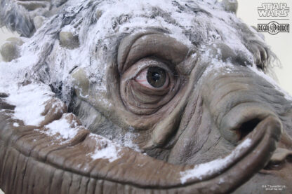 life-sized bust or statue of Luke Skywalker's tauntaun