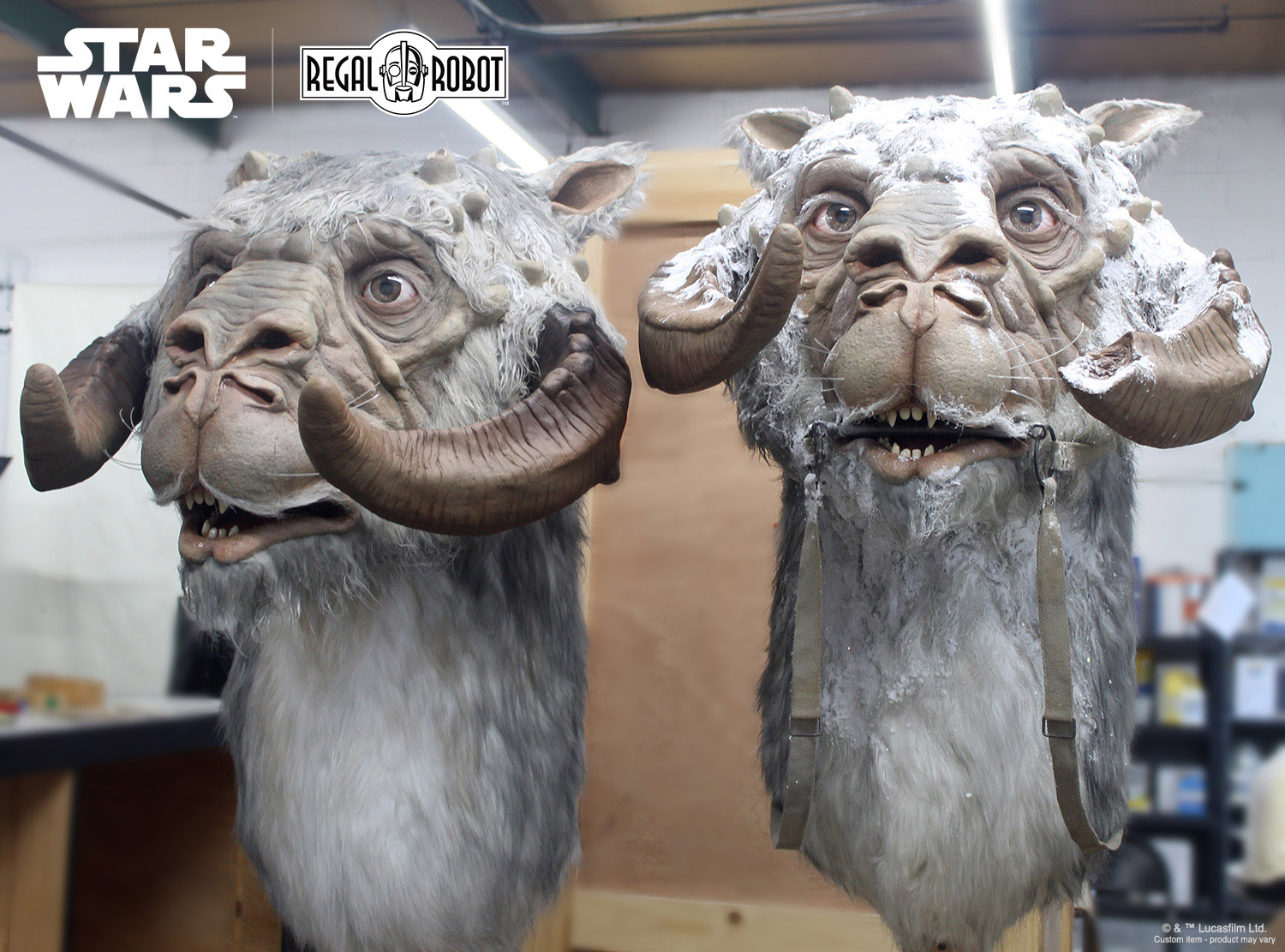 Custom Empire Strikes Back 1:1 tauntaun busts by Regal Robot