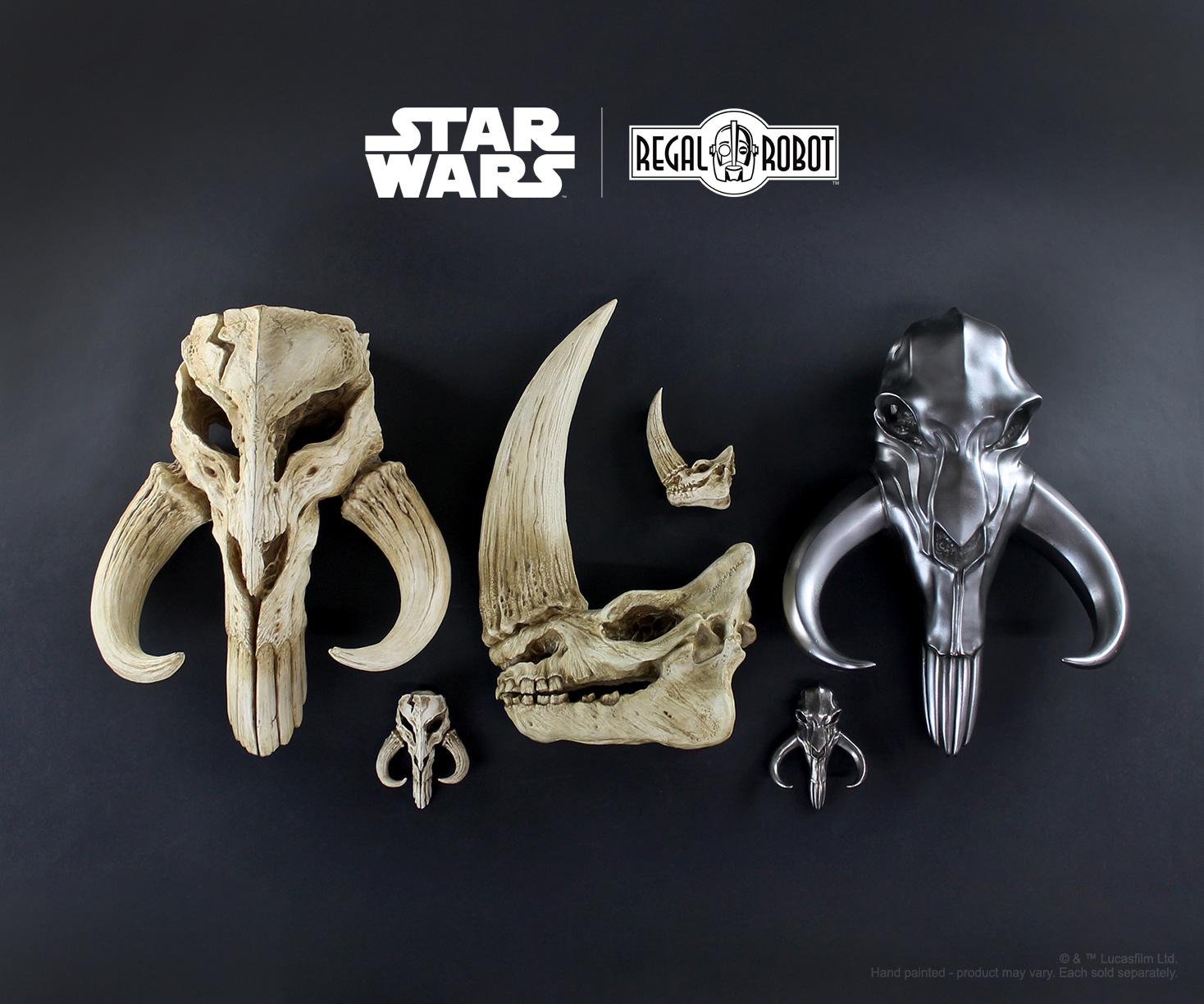 Regal Robot Star Wars Mandalorian skulls and decor