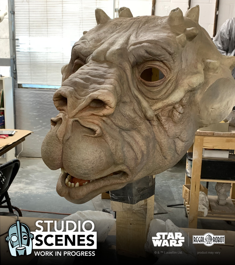 tauntaun life-sized face prop