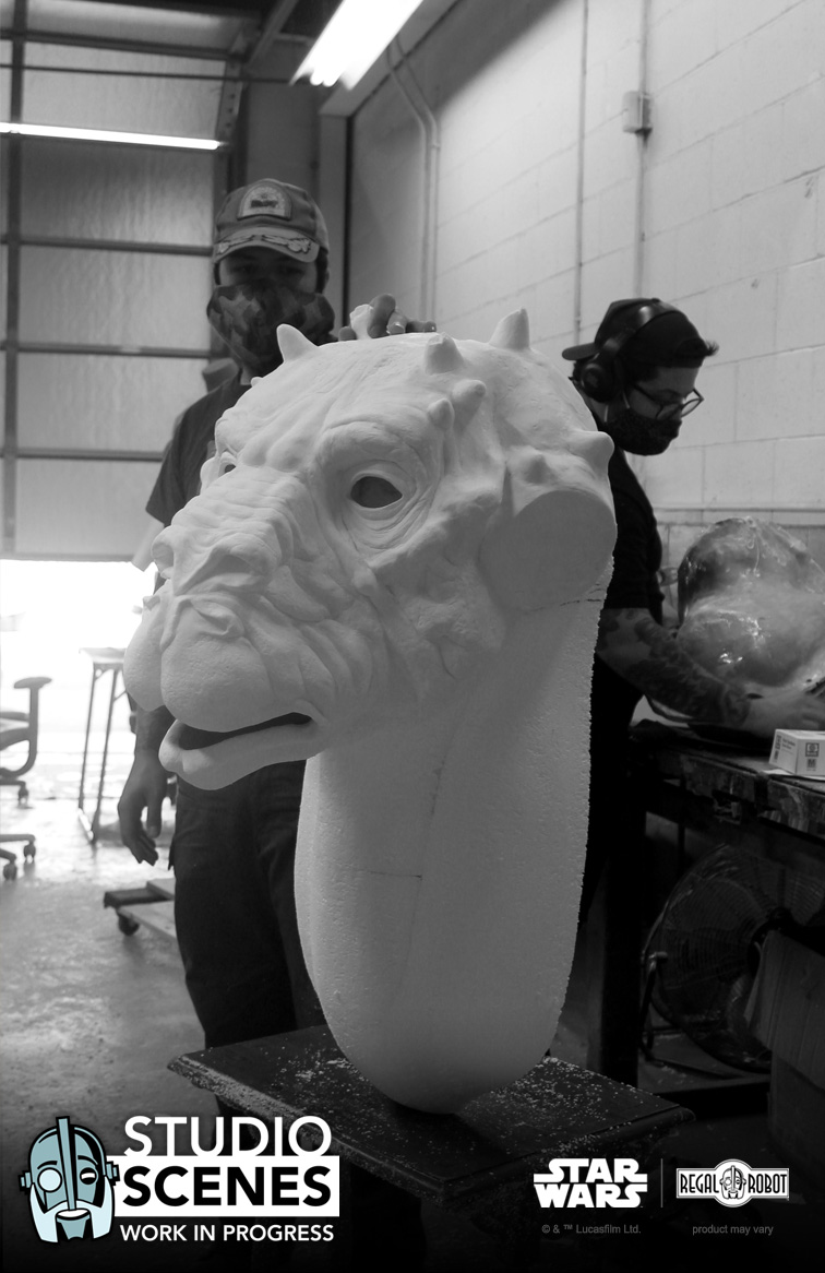 tauntaun life-sized bust prop