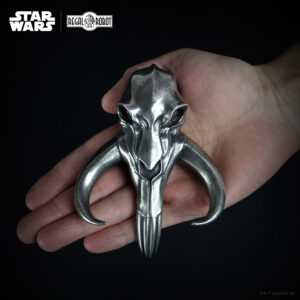 metal skull ornament